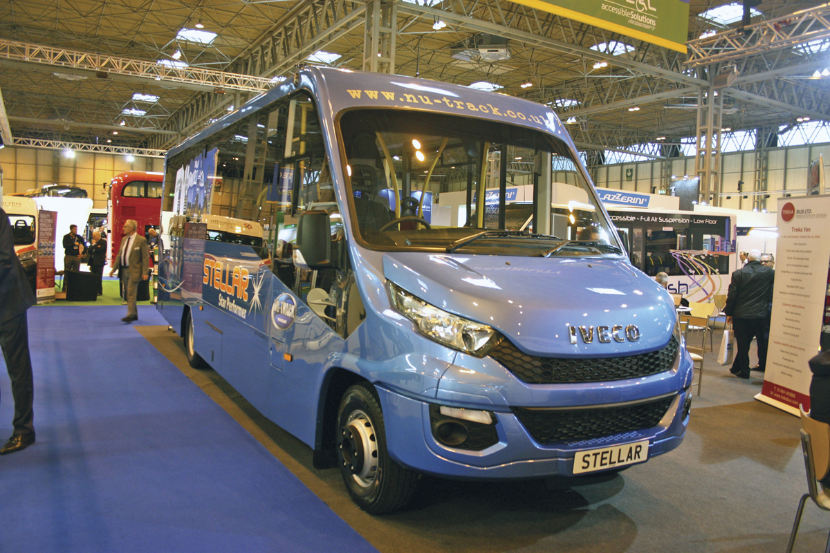 Launched at the Show the Nu-Track Stella based on Iveco New Daily.