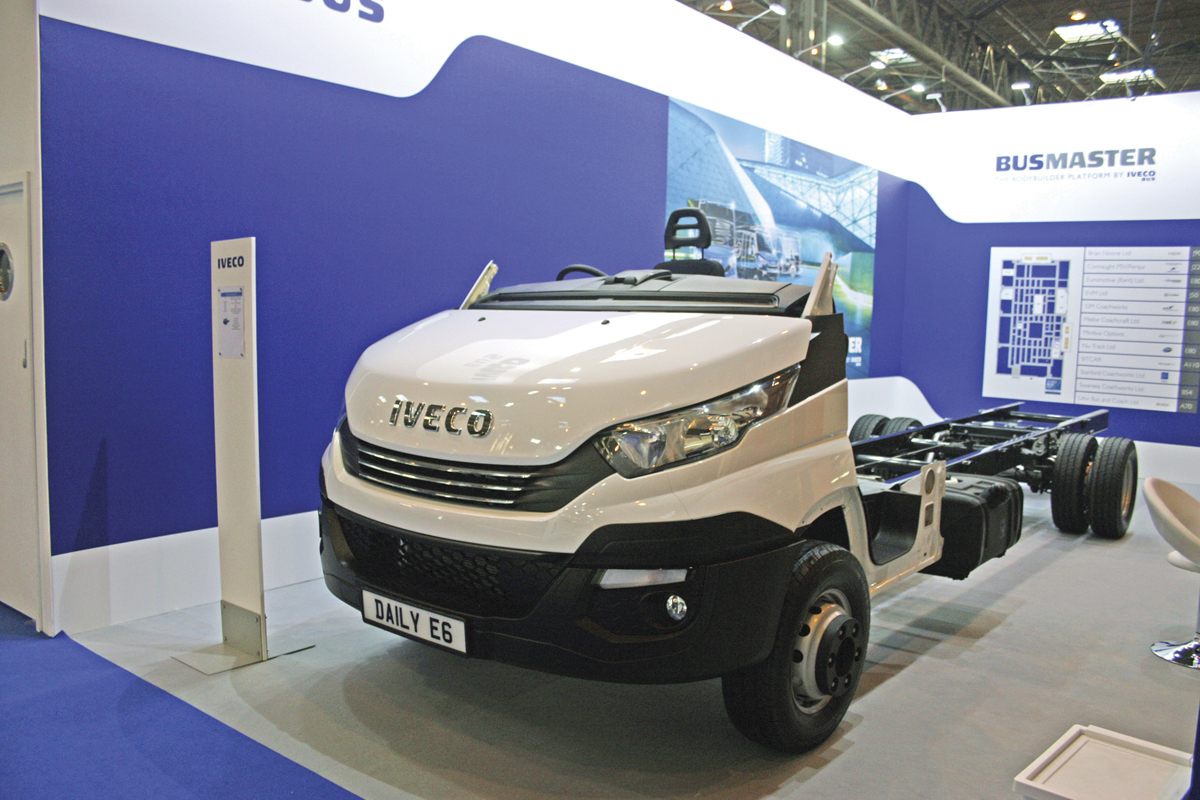 The Iveco New Daily chassis.