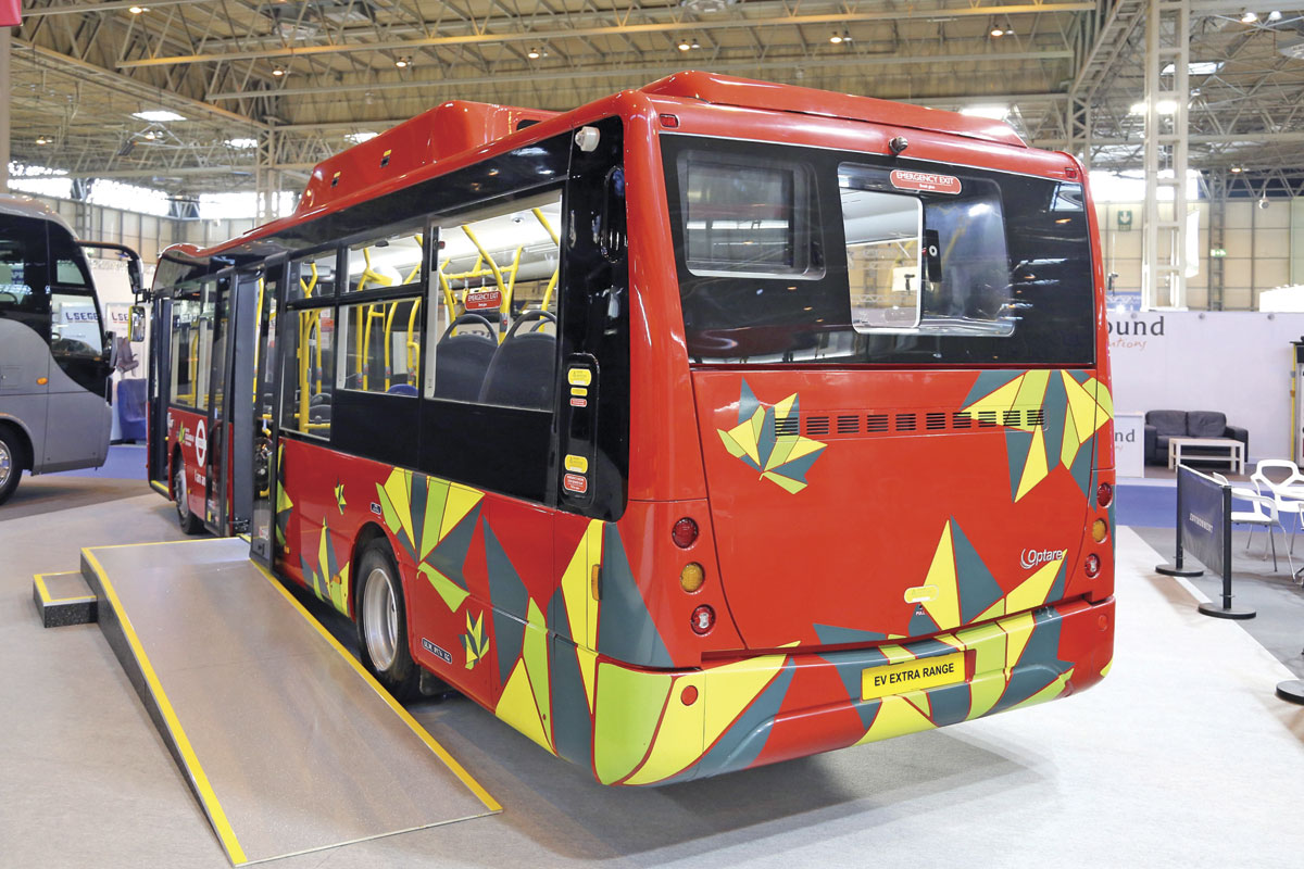 Optare Metrocity EV with extended range