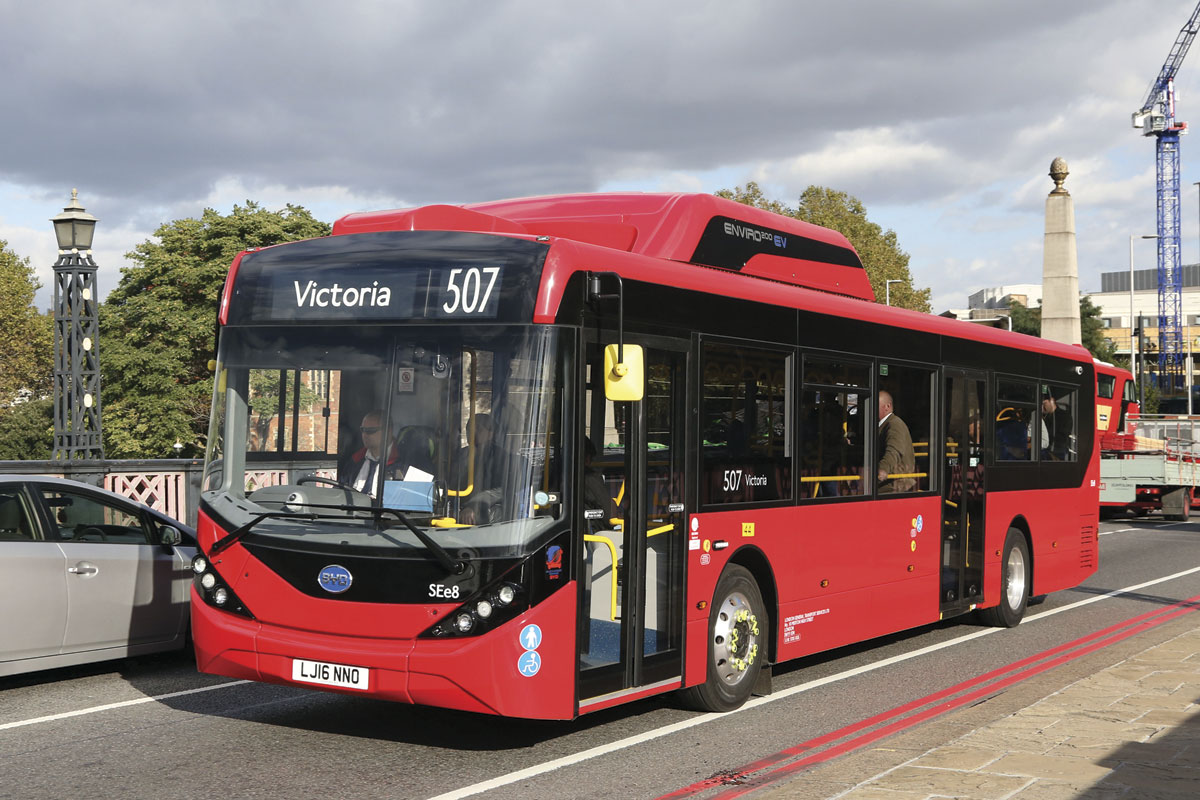 The BYD ADL Enviro200EV as delivered to Go Ahead in London is the first product of the collaboration between ADL and BYD
