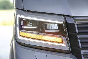 The generous well proportioned headlights. An LED option is available