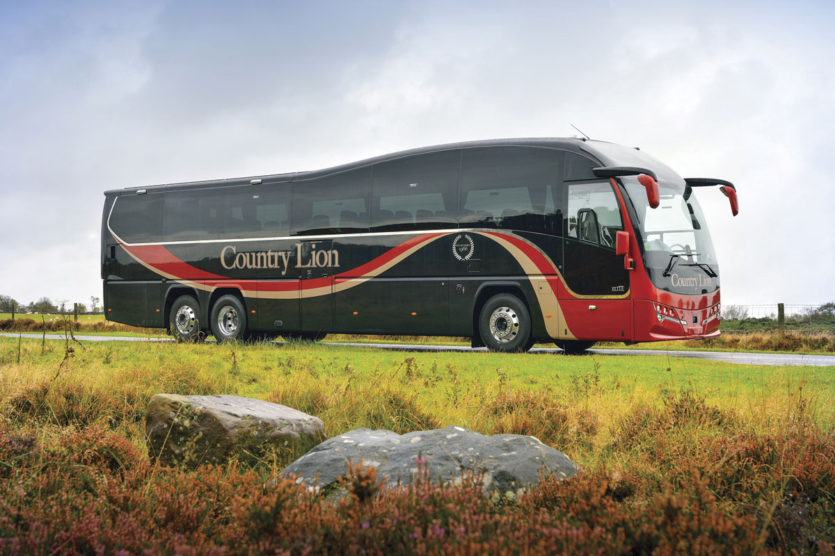 The revised Plaxton Elite on Volvo B11R chassis was introduced at Euro Bus Expo