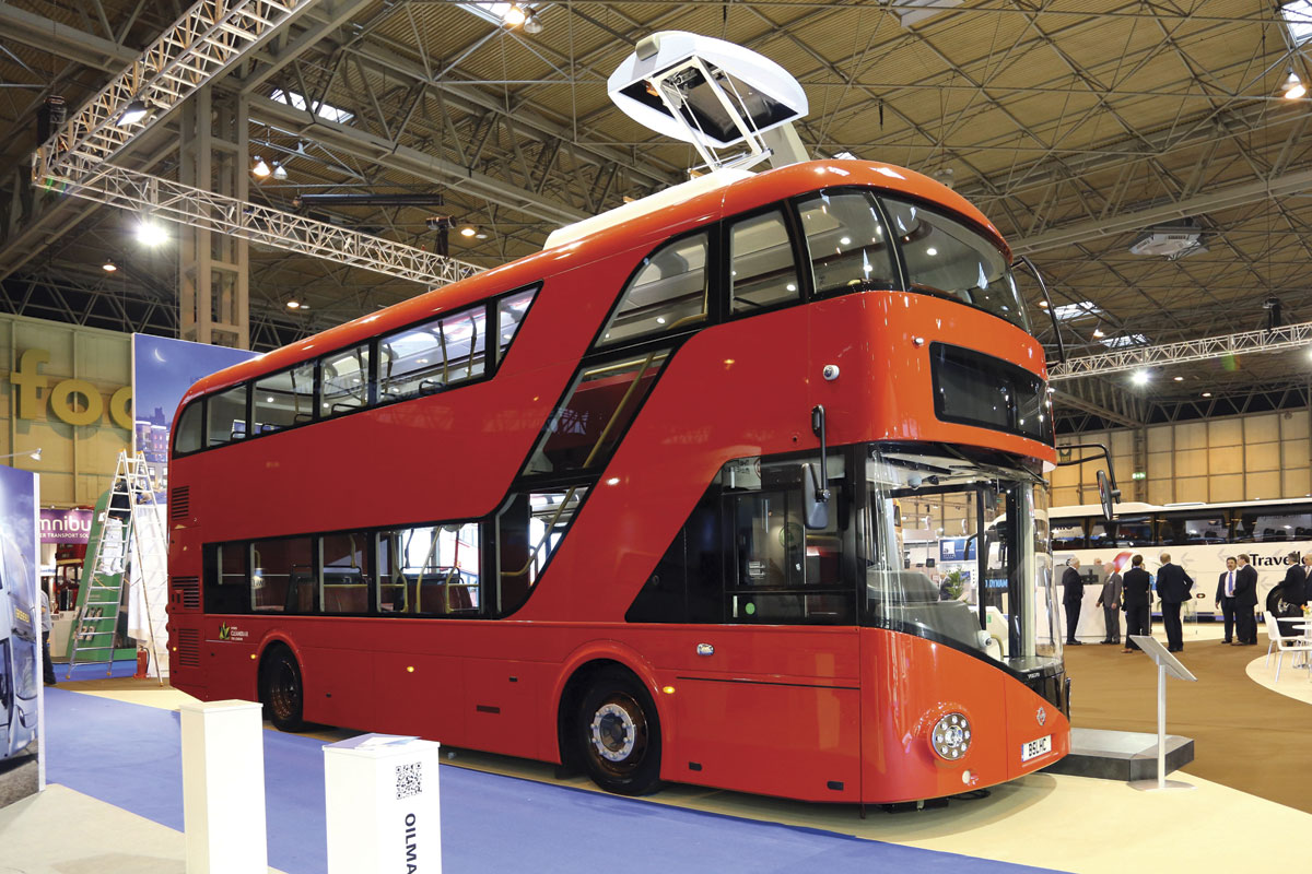 Volvo B5LHC electric hybrid with Wrightbus SRM body, opportunity charging
