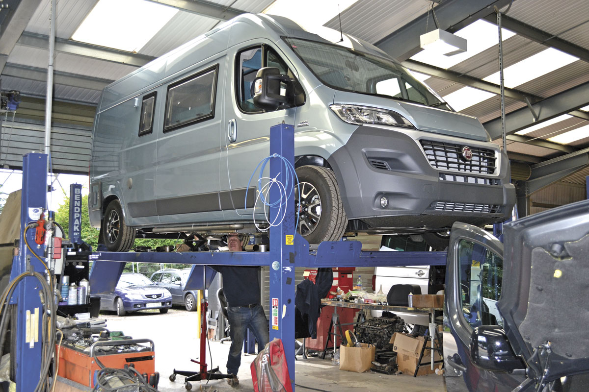 A Fiat van ready for conversion