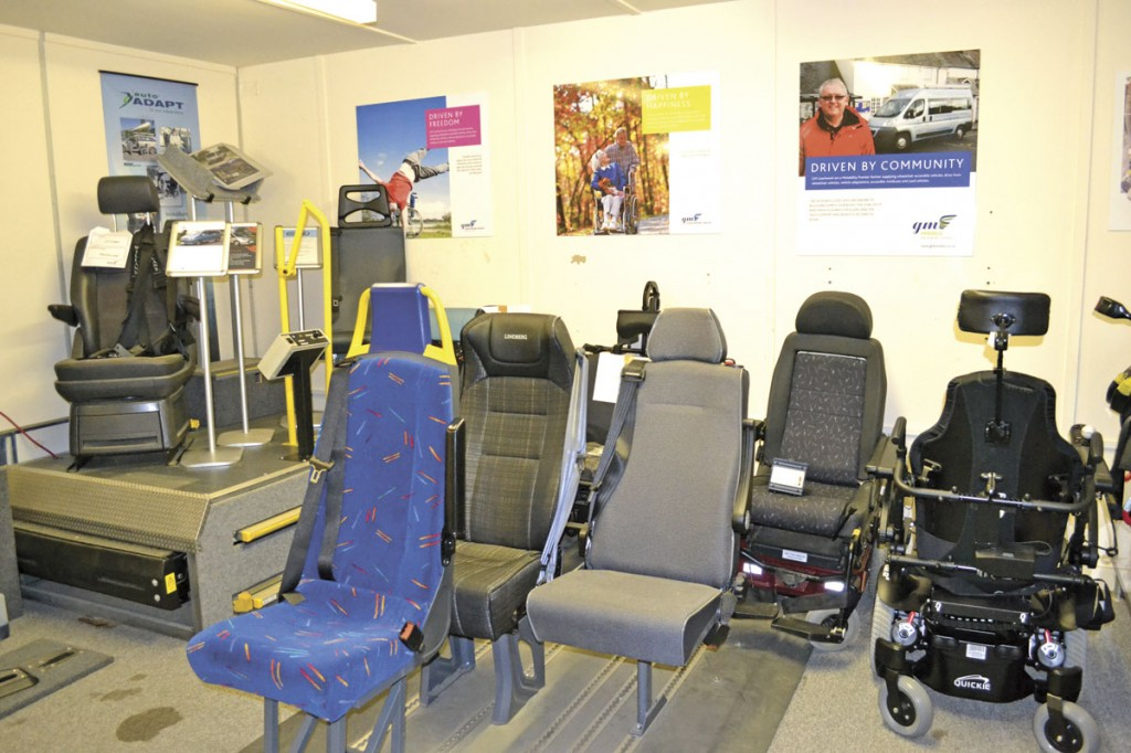 A selection of seats, restraints and fixings for customers to view in their demo room-img2