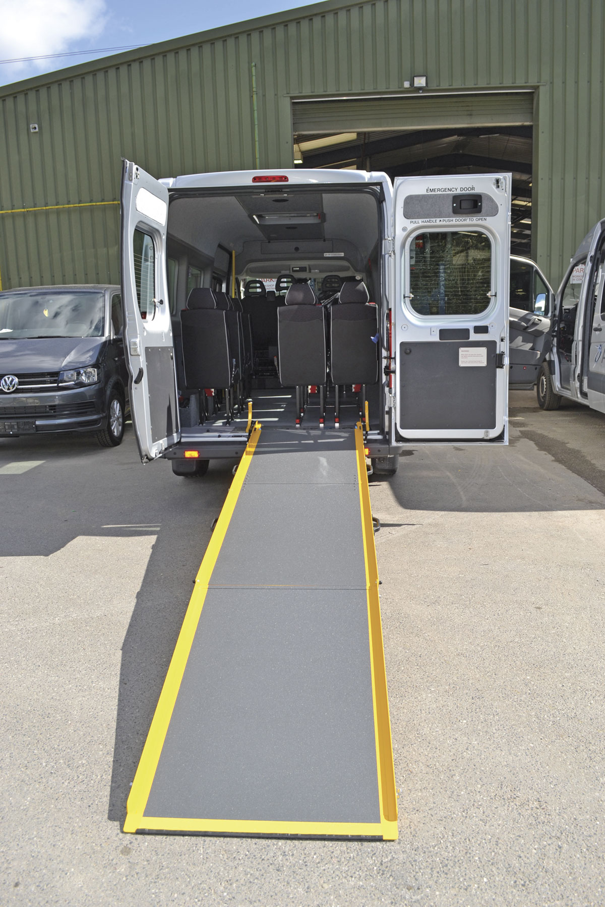 The Lite 2 Go Ramp at full extension