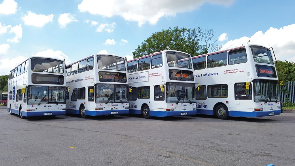 EYMS has recently added four new training buses, specially converted for its needs.