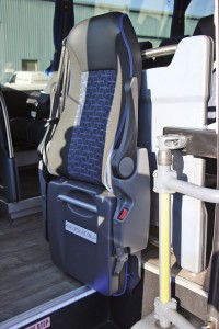 Inova supply the courier seat which matches the interior trim