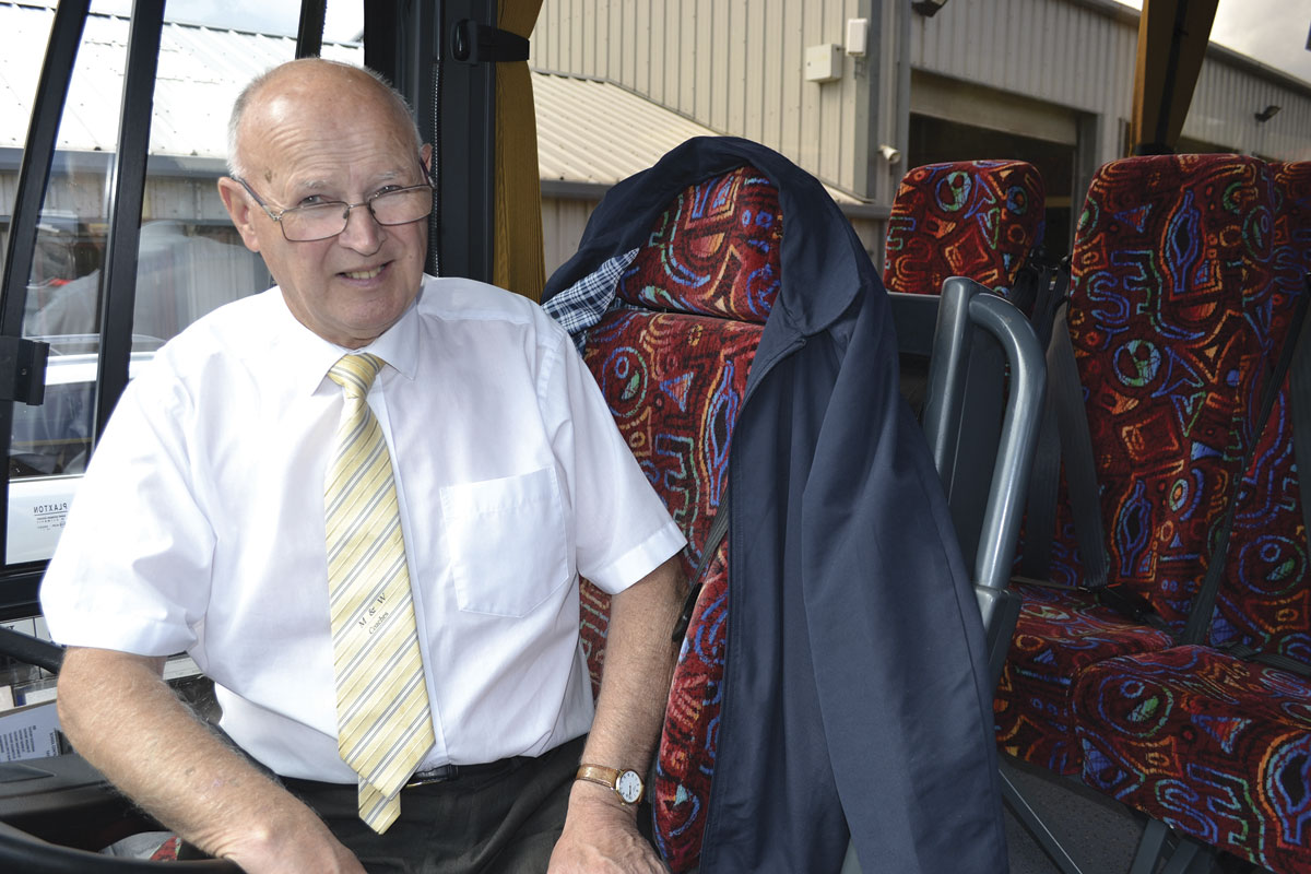 John Willison, who put George through his test, still drives for the company