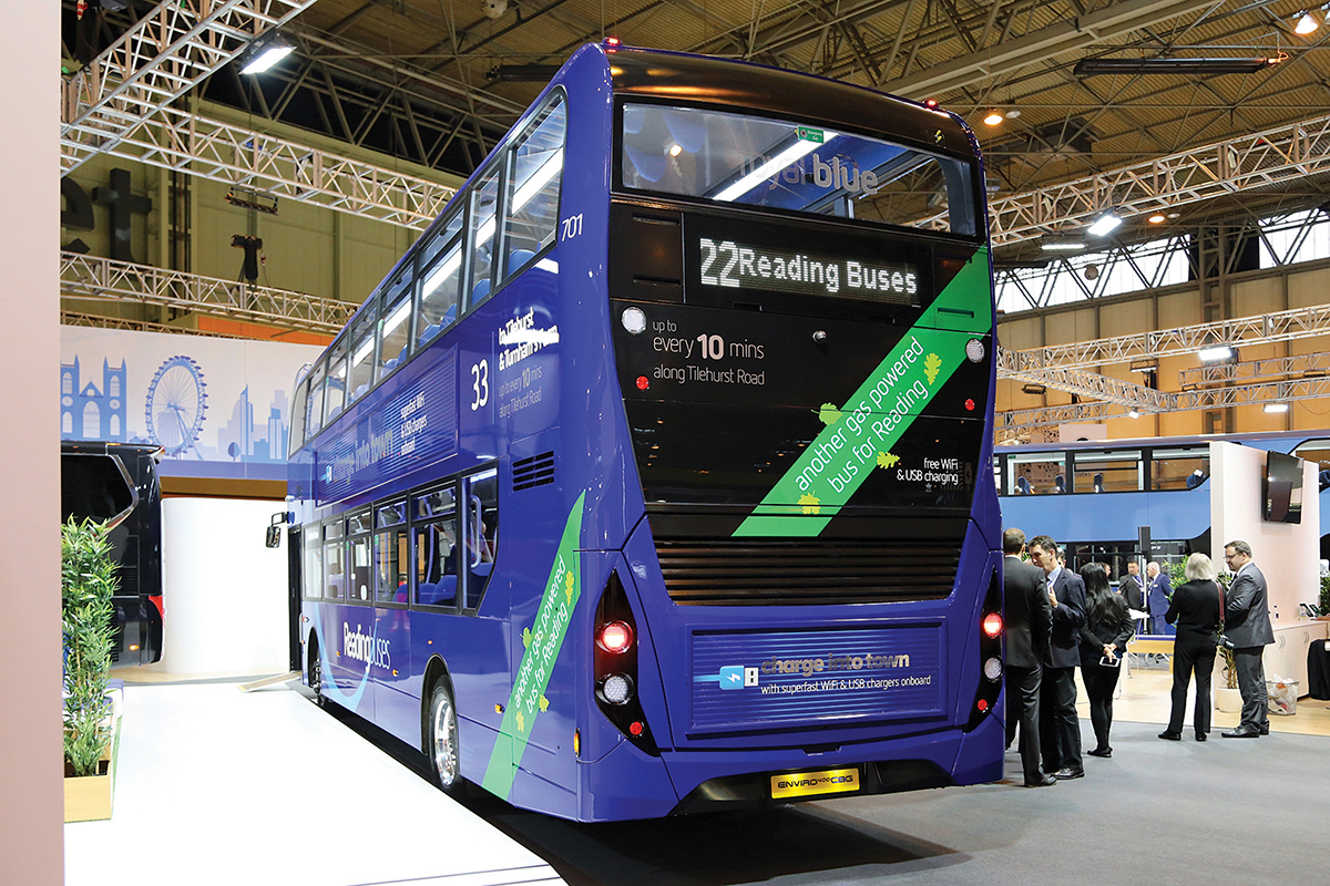 On the ADL stand at Euro Bus Expo 2016.