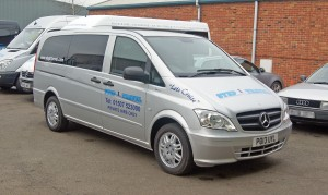 One of the operator's Mercedes-Benz Vito eight-seaters.