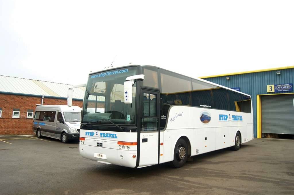 One of the proudest moments in Phil's career was the delivery of his first coach. He operates Van Hool DAFs, as pictured here.