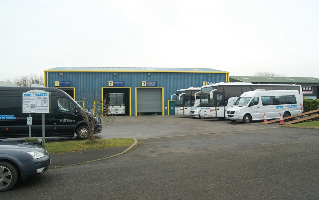 Step 1 Travel's depot in Horncastle.