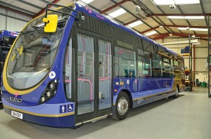 This First bus has been coated in Glasurit's paint.