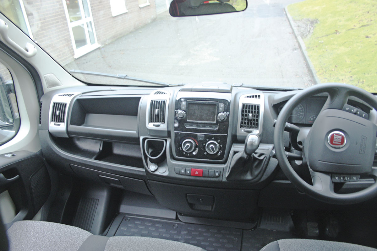 The cab is essentially standard Fiat Ducato
