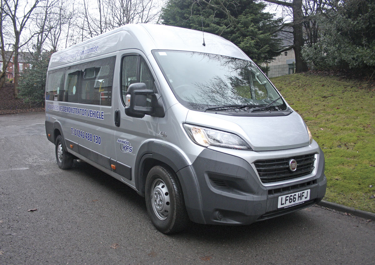 The conversion is also available on the Citroen Relay, Peugeot Boxer and Iveco New Daily