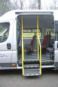 The fold out steps and handrail system developed by Advanced KFS