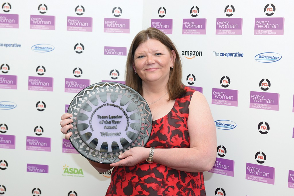 Wendy, with her Team Leader of the Year award at the Everywoman Awards in 2016.