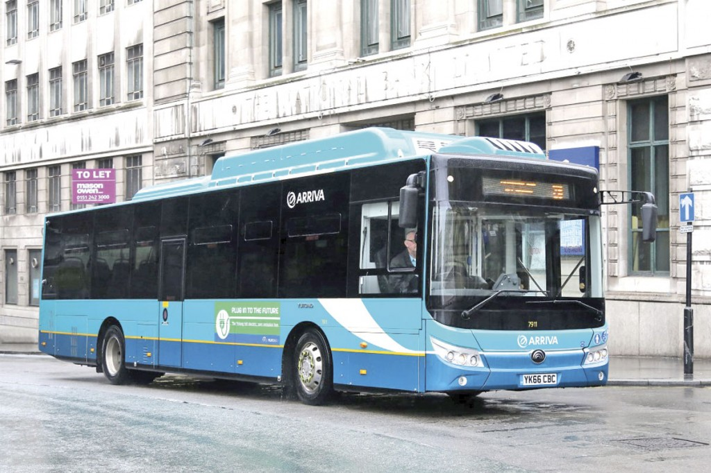 In advance of the delivery of the BYD-ADL electric vehicles on order, Arriva are trialling the Yutong electric bus demonstrator on Liverpool route 26