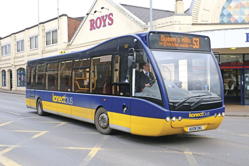 Norfolk based Konectbus achieved the highest score for overall satisfaction
