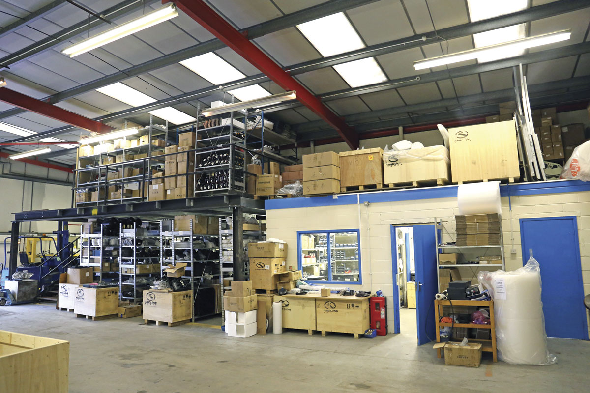 Parts stocks have been enhanced and the handling and distribution systems improved