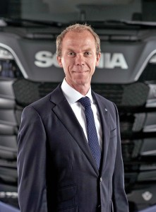 Scania's Executive Vice President, Commercial Operations, Mathias Carlbaum.