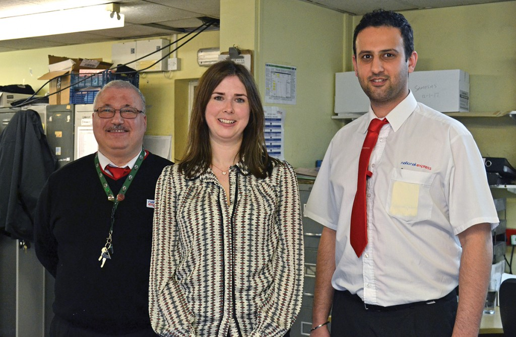 Steph with her two Operations Supervisors, Davinderpal Powar (left) and Mehmet Sadik (right).