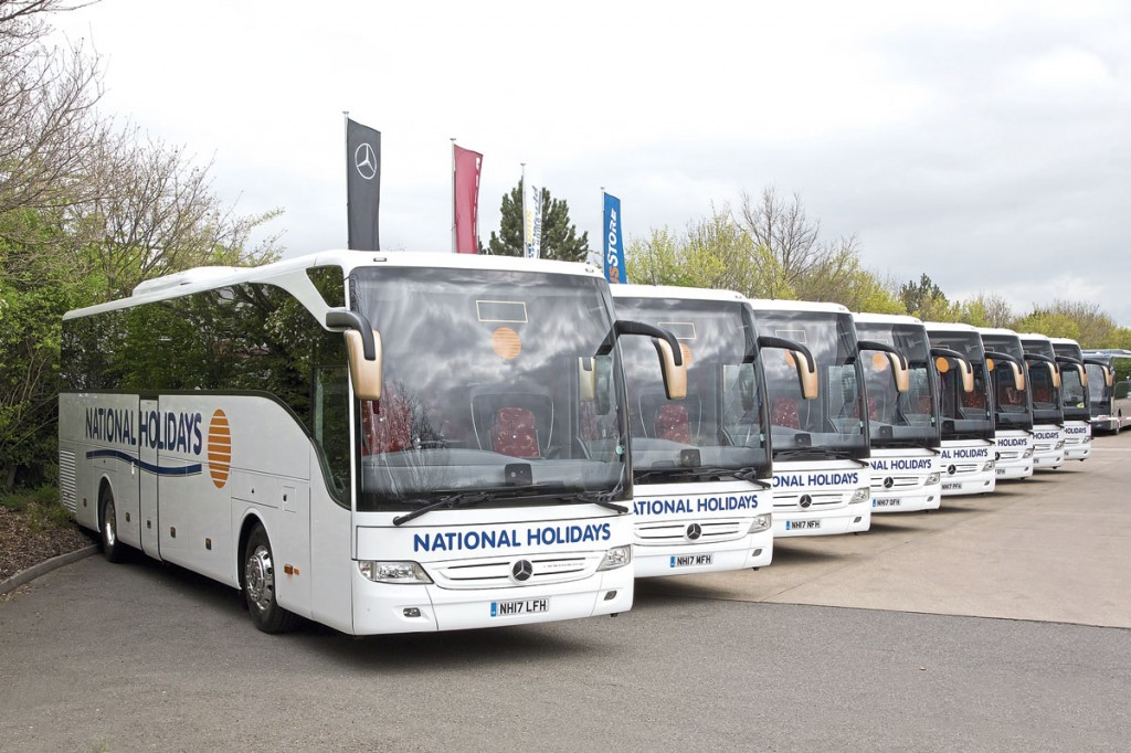 Eight Tourismos were present at the handover with five entering service the following day