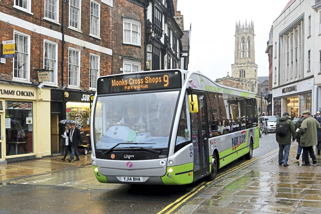 Electric Optare Versa in York