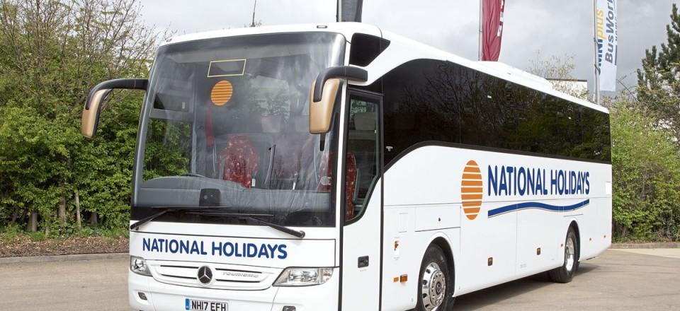The Tourismos carry distinctive National Holidays branding