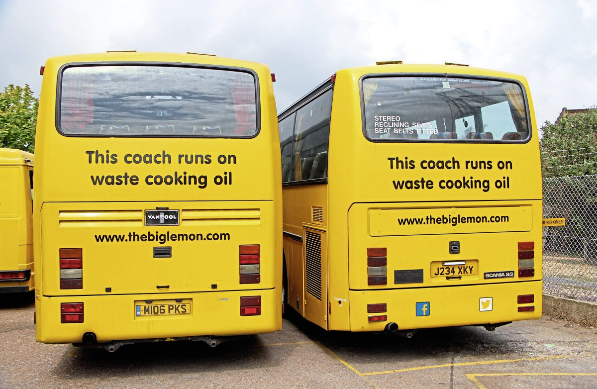 Aside from the Solos, all Big Lemon vehicles are fuelled with waste cooking fat