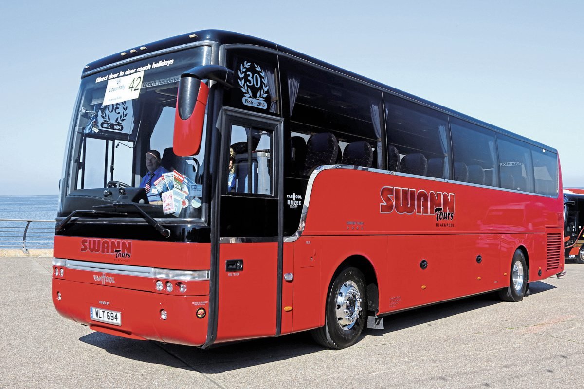 Best loved coach, Swann Tours