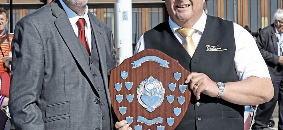 David Ketley receives the award for the oldest employed driver participating