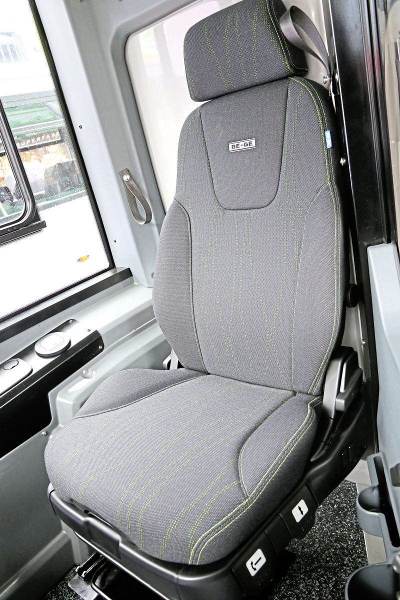 Drivers expressed positive feedback on the Ge-Be seat installed in the cab