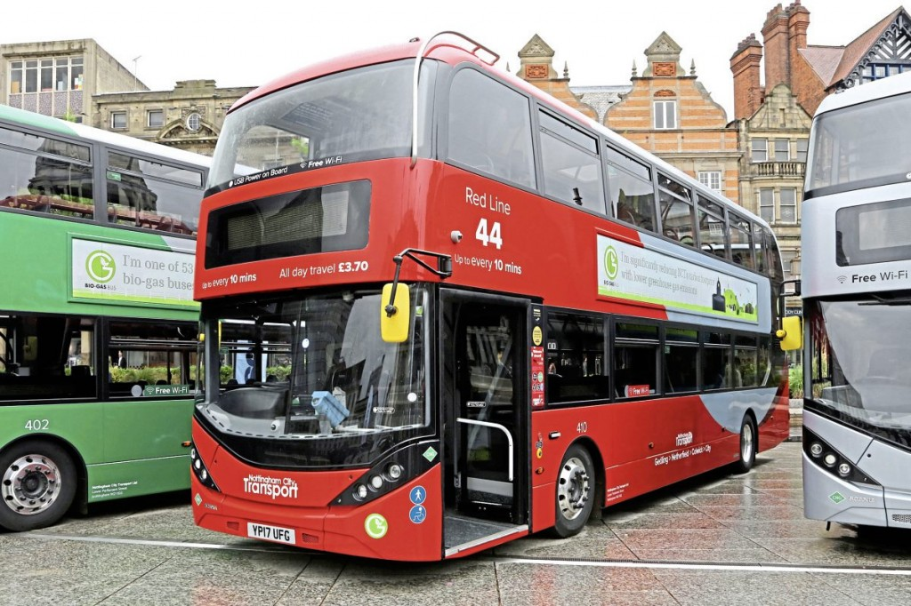 NCTs Scania gas buses carry attractive ADL Enviro400CBG City bodywork
