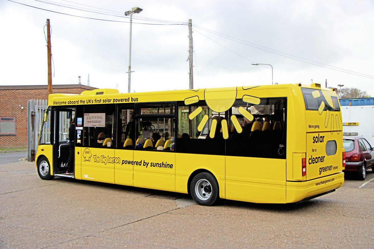 The Solar Solo carries a revised livery and will be operated on the 52 service between Brighton and Woodingdean