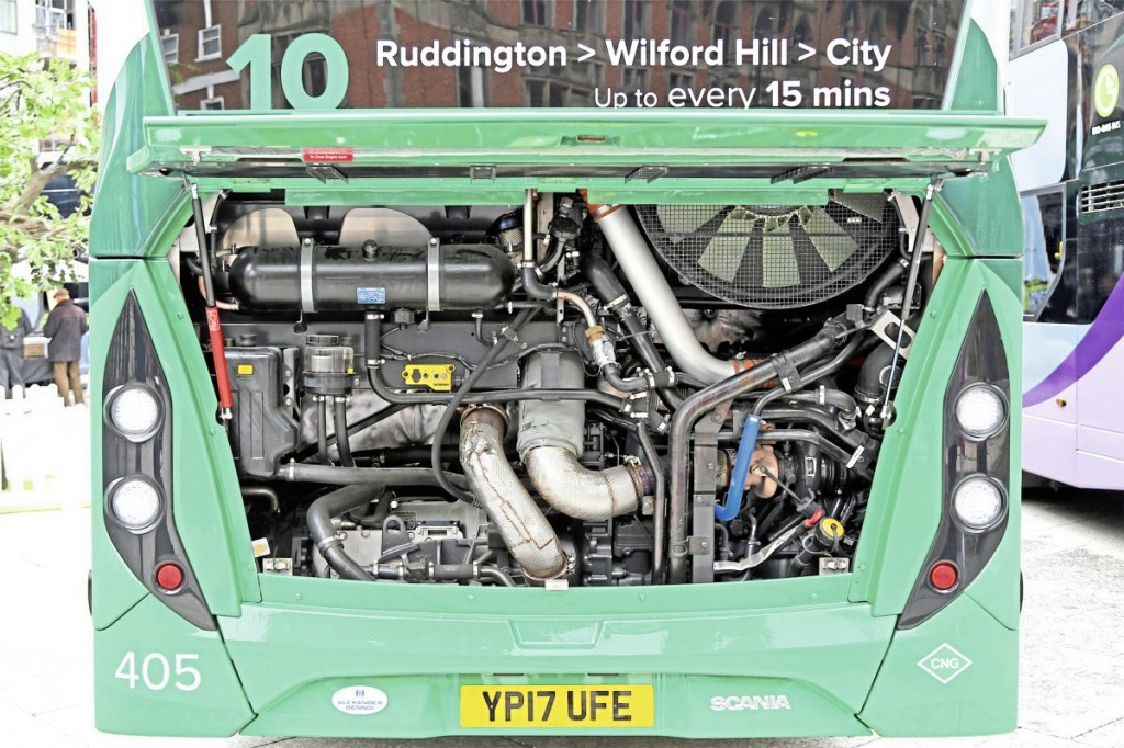 The engine bay is relatively uncluttered without the need for complex after treatment systems