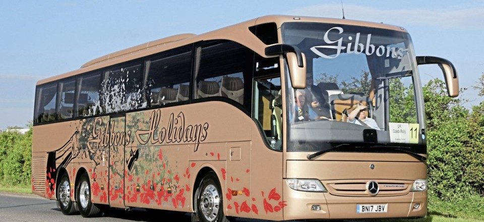 Top coach from a small fleet, Gibbons Coach Holidays