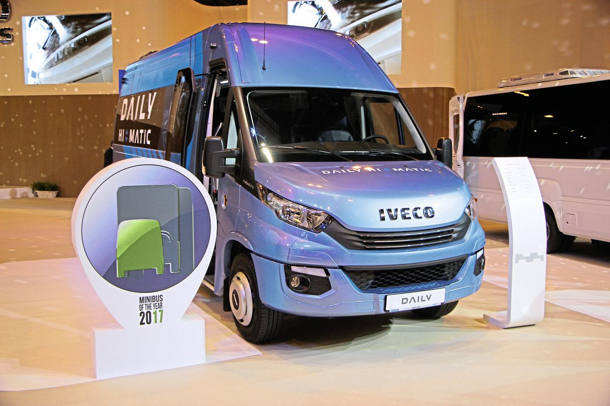 Winner of the first Minibus of the year competition, Iveco's Daily Tourys