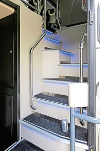 Both staircases have blue LED marker lights and stainless steel litter bins-1