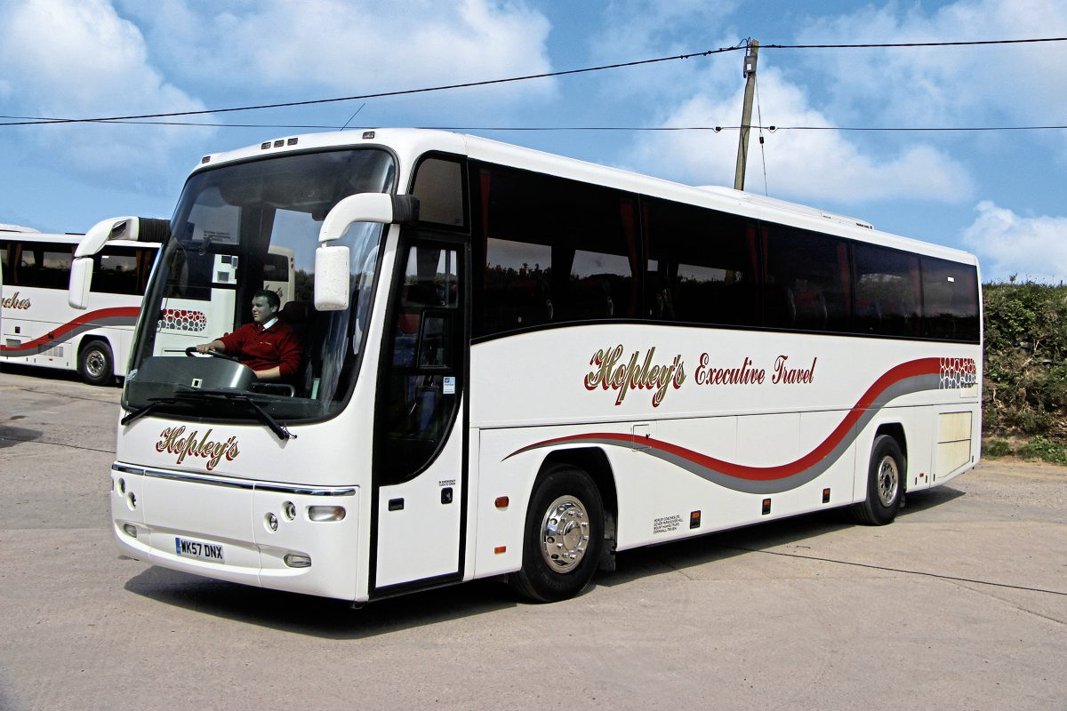 Bought new was this 12m 57-plate Volvo B12B Plaxton Panther