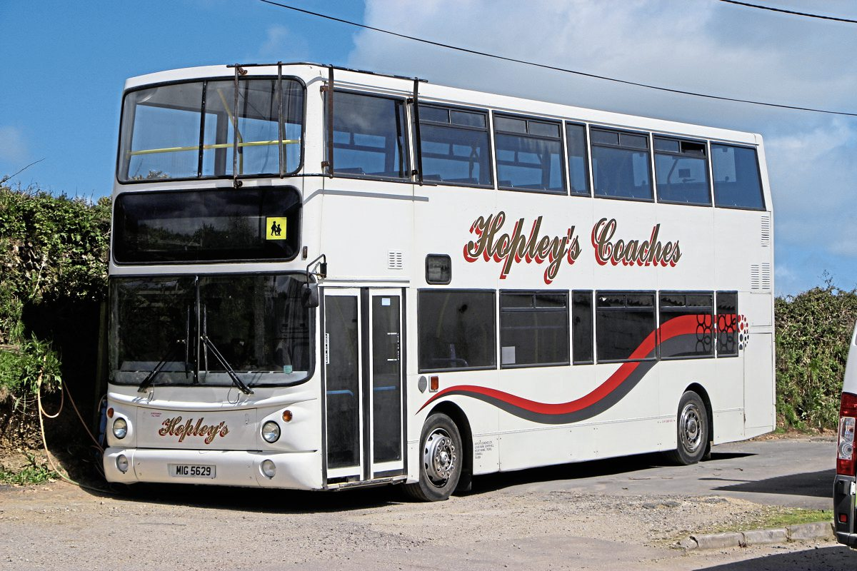 Five of these former Dublin Volvo B7TL Alexander ALX400s are operated on school contracts