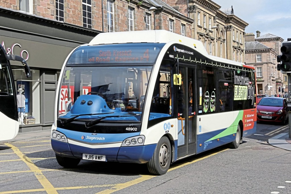 Optare have supplied five extended range Solo EVs for operation on Stagecoach city routes in Inverness