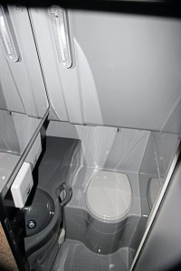The interior of the toilet compartment