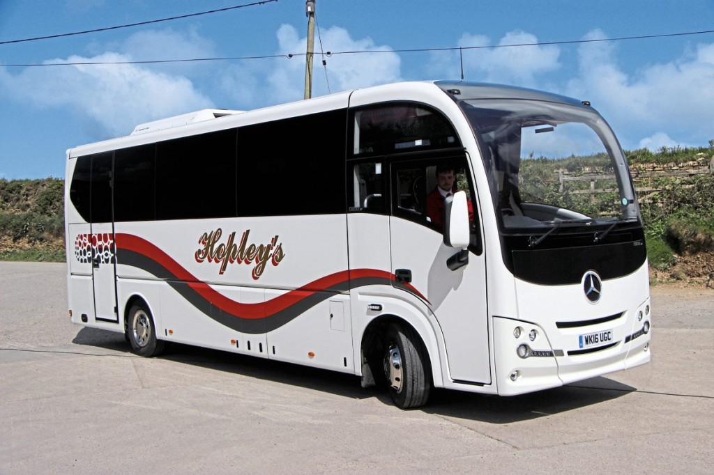 The newest of the smaller vehicles is a 36 seat Cheetah XL bodied Mercedes-Benz Atego