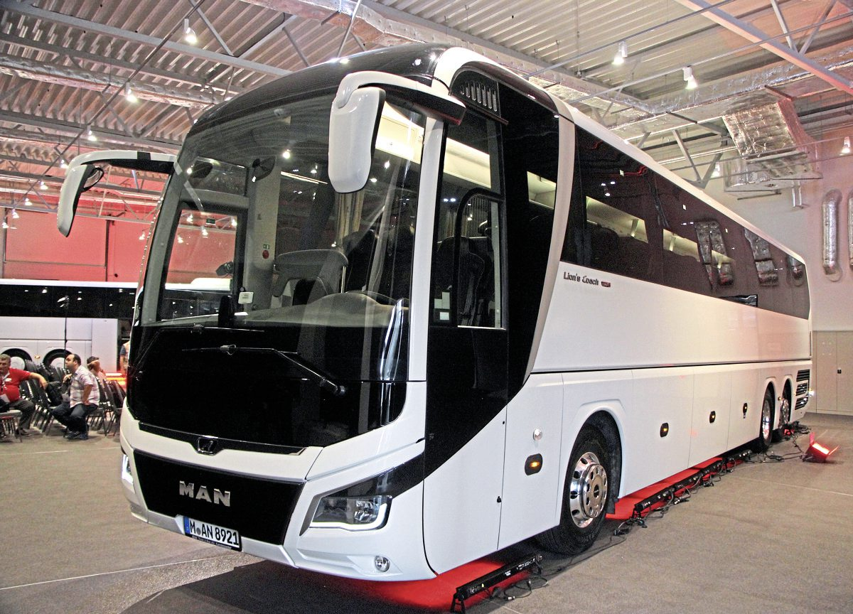 A 20 per cent aerodynamic improvement has been achieved compared with the current generation MAN Lion's Coach