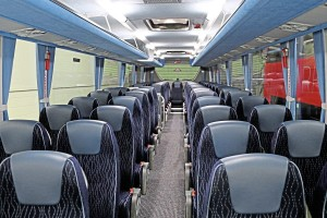 The current Plaxton Panther demonstrator with revised centre steps and Brusa Extend100 seats-2