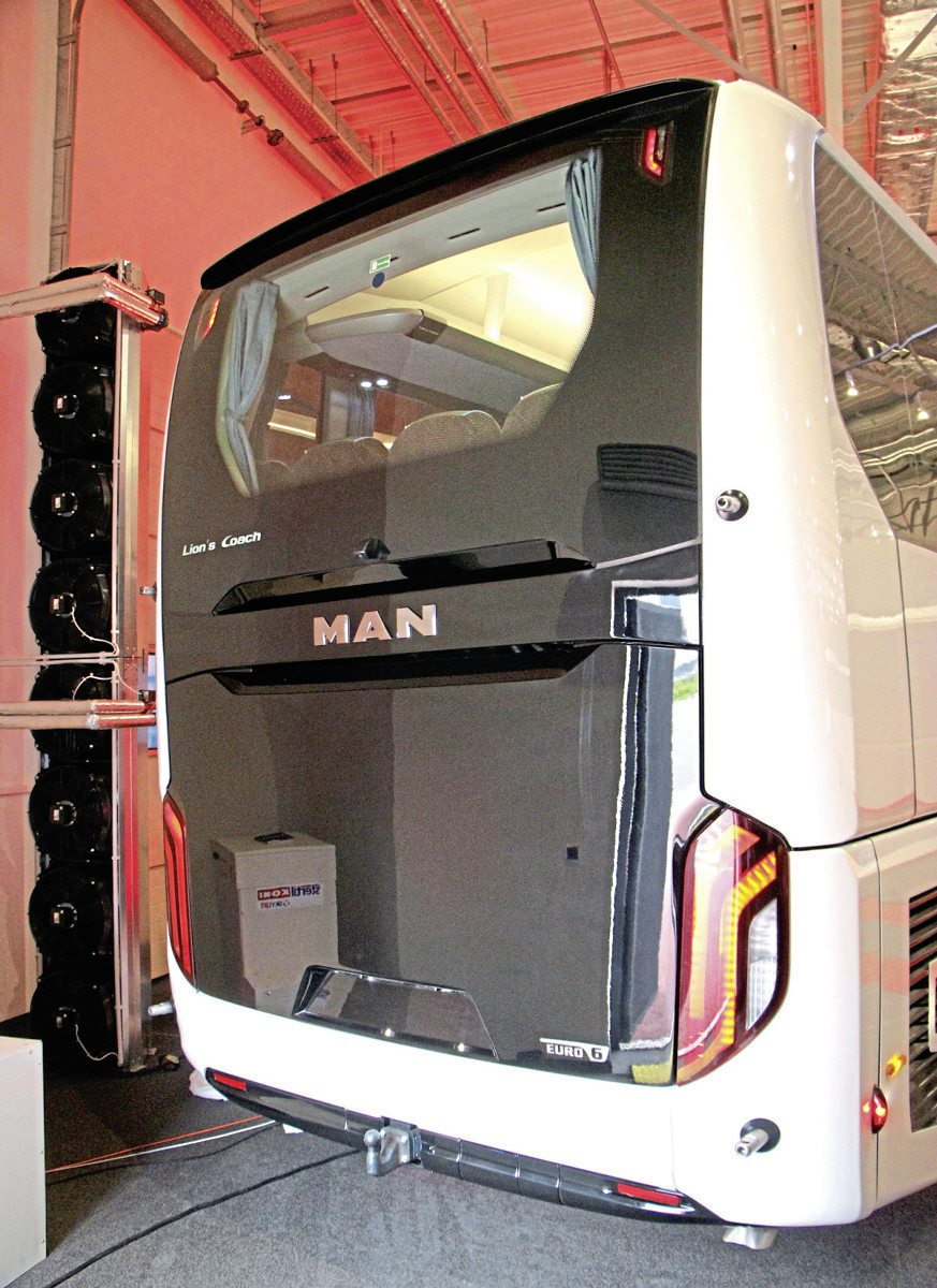 The rear styling of the new MAN Lion's Coach