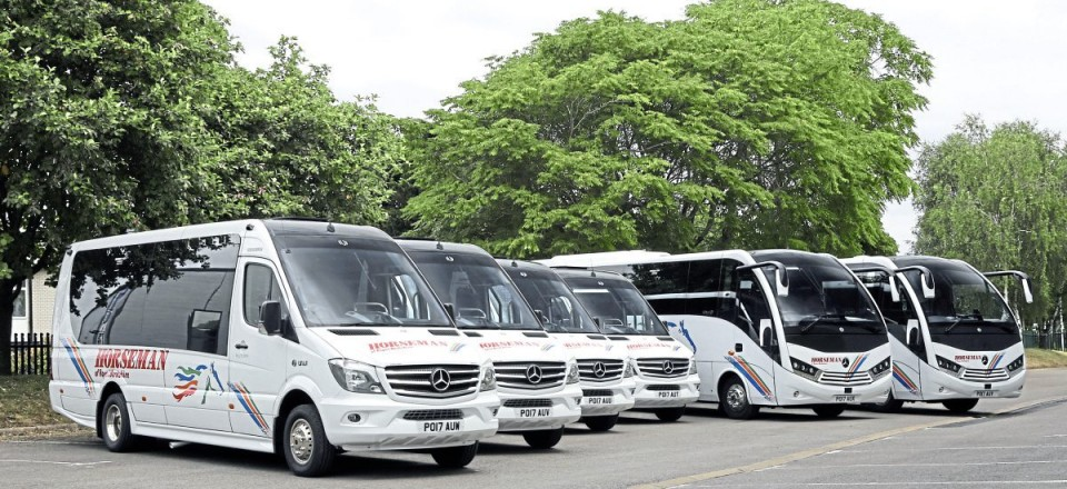 The six Mercedes-Benz Euro 6 vehicles with Unvi coachwork delivered in 2017