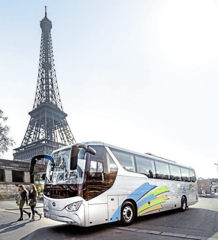 Electric coach - The Mayor of Paris has said that diesel-fuelled coaches will be banned from the city by 2020 and, with London's mayor's prone to introducing sweeping restrictions that take no account of operator's ability to replace their fleets, it may well be that the UK will see electric coaches.